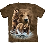 Find 10 Brown Bears Adult T-Shirt 43-1034820