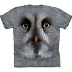Great Grey Owl Face Adult T-Shirt 43-1034920