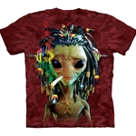 Jammin Alien Adult T-Shirt 43-1035060