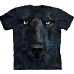 Black Wolf Face Adult T-Shirt 43-1035130