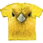 Yellow Warbler Face Adult T-Shirt 43-1035430