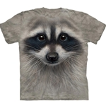 Raccoon Face Adult T-Shirt 43-1035450
