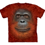 Orangutan Face Adult T-Shirt 43-1035460