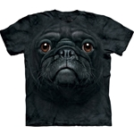 Black Pug Face Adult T-Shirt 43-1035480