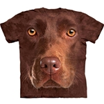 Chocolate Lab Face Adult T-Shirt 43-1035500