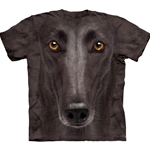 Black Greyhound Face Adult T-Shirt 43-1035550