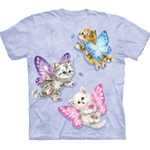Butterfly Kitten Fairies Adult T-Shirt 43-1035680