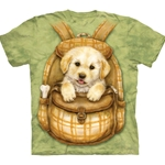 Puppy Backpack Adult T-Shirt 43-1035790