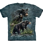 Three Black Bears Adult T-Shirt 43-1035900