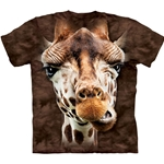 Giraffe Face Adult 2X-Large T-Shirt