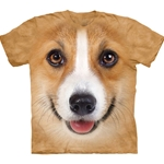 Corgi Dog Face Adult 2X-Large T-Shirt