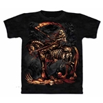 Scythe Reaper Skeleton Adult 2X-Large T-Shirt