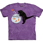 Fishin Kitten Adult T-Shirt Plus Size