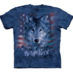 Patriotic Wolfpack Adult T-Shirt 2X-Large