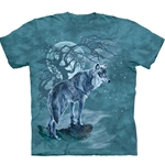 Wolf Tree Silhouette Youth's Tee Shirt