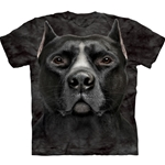 Black Pitbull Head Youth's Tee Shirt