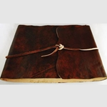 Ancient Earth Scrolls Leather Blank Book 45-BBBCEAR