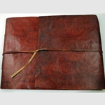 Red Scroll Leather Sketch Book 45-BBBCSCR