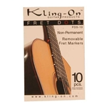 Fret Dots fop Guitar, Non-Permanent, Kling-On, 10pcs