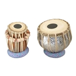 Tabla Set, Embossed Nickled Brass 47-TBSE