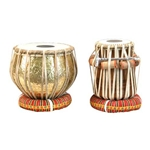 Tabla Set, Embossed Brass 47-TBSG