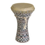 Mosaic Wooden Doumbek, Medium 47-WDEM