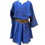 Blue Medieval Linen Look Tunic