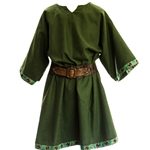 Green Medieval Woolen Tunic