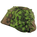 German WWII Oak leaf A SS Mottled Camouflage Helme