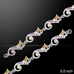 Waves of Eternity Silver & Gold Bracelet 52-MBL123
