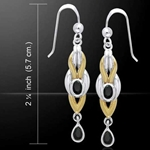 Magic Braided Silver & Gold Earrings