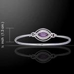 Celtic Knots Silver Bangle 52-TBG338