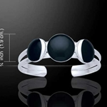 New Moon Phase Silver Cuff 52-TBG696