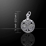 Celtic Shamrock & Irish Claddagh Silver Charm 52-TC1082