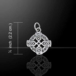 Celtic Knotwork Celtic Cross Silver Charm 52-TCM106
