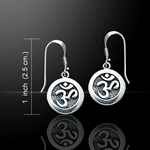 Om Meditation Silver Earrings 52-TE1052