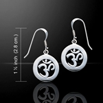 Om Meditation Silver Earrings 52-TE1053