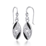 Celtic Trinity Knot Silver Earrings 52-TE2006