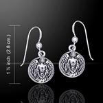 Hollow Ball with Angel Silver Earrings 52-TE2676