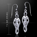 Goddess of  Power Silver Earrings
