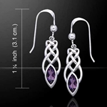 Celtic Knotwork Silver Earrings 52-TE2866