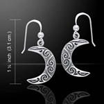 Magick Moon Silver Earrings 52-TE2915