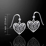 Eternal Heart Celtic Knots Silver Earrings 52-TE2935