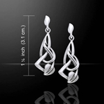 Leaf Pattern Silver Earrings 52-TE933
