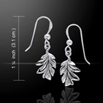 Oak Leaves Silver Earrings