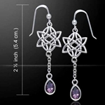 Celtic Knotwork Silver Earrings 52-TER123