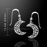 Magick Moon Silver Earrings 52-TER148