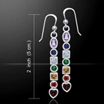 Silver Chakra Earrings 52-TER414