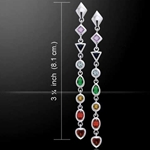 Silver Chakra Earrings