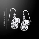 Reiki Symbol Silver Earrings 52-TER473